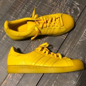 Men's Yellow Adidas Superstar